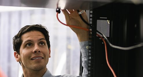 technician with server