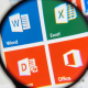 Office 365 Word Excel magnifying glass