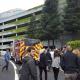 Employees Leaving Building In Emergency