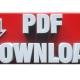 3d render. PDF icon 3d concept