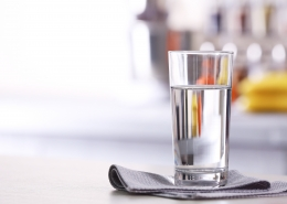 A clean glass of water