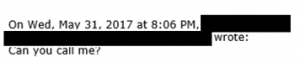 Email 7 - Employee asks to speak to boss